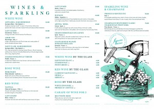 wine menu 2020